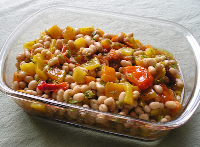 Roasted Pepper, Tomato and White Bean Salad