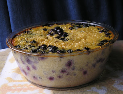 Honey Rice Pudding with Blueberries