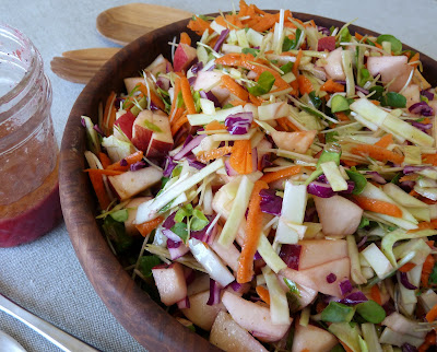 Cabbage, Carrot, Sprout and Apple Salad