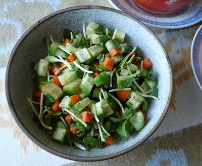 Cucumber and Sprout Salad