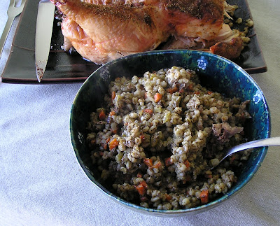 Barley Dressing and Slow Roasted Chicken