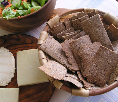 Rye and Flaxmeal Crackers