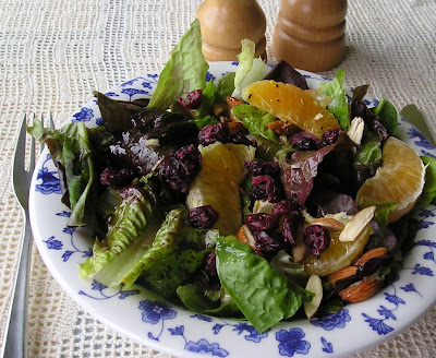 Cranberry, Orange and Almond Salad with Orange-Fennel Dressing