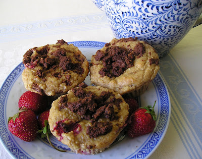 Strawberry Streusel Oatmeal Muffins
