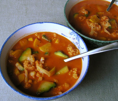 Tomato and Garlic Soup with Vegetables