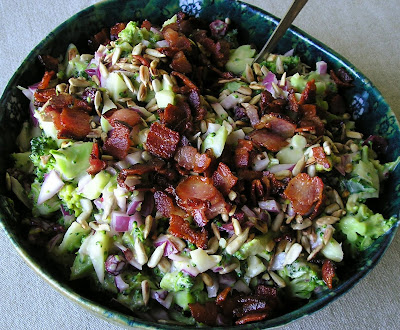 Broccoli Salad with Bacon Cranberries and Onion