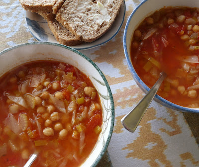 Chick Pea Tomato and Cabbage Soup