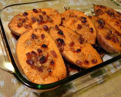Rum and Raisin Sweet Potatoes