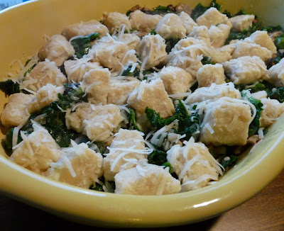 Ricotta Gnocchi with Mushrooms and Spinach