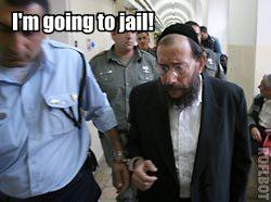 Avrohm Mondrowitz looks very scared.