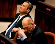 Israeli Prime Minister Ehud Olmert and Defense Minister Ehud Barak