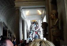 Procissão de turistas
