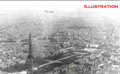 Flying Saucer Over The Eifel Tower 1945