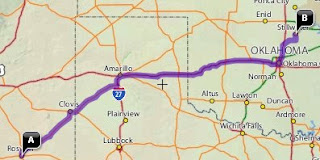 Roswell To Stillwater Map
