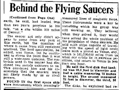 Fallen UFOs Yield 34 'Venus Midgets' (-cont)