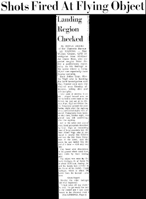 Shots Fired at Flying Object - New Mexican, The 4-28-1964