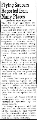 Reports of Seeing Flying Saucers Grow  (Cont)- Las Cruces Sun-News 7-6-1947