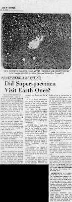 Did Superspacemen Visit Earth Once - Daily News 4-3-1966