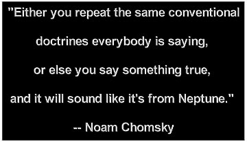 Same Conventional Doctrines - Noam Chomsky