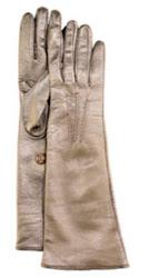 Prada Long Metallic Leather Gloves