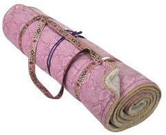 Silk yoga mat