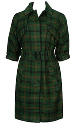 Scottish Plaid Trench Coat