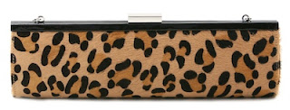 Leopard spot clutch bag