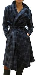 Vivienne Westwood Plaid Wool Coat