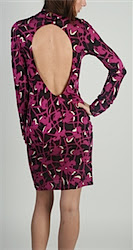 T-bags Fushia Keyhole Dress