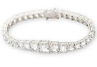 26.90 carat white topaz bracelet