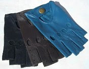 fingerless leather driving glove