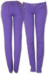 purple skinny leg jeans