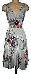 classic cut silk swing dress