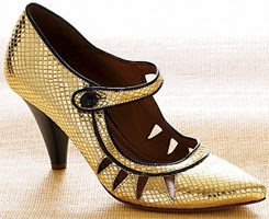 reptile embossed leather mary jane pumps