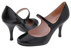 round-toe patent leather mary janes