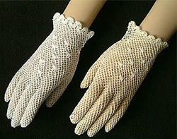 silk crochet gloves