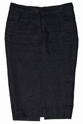hemp denim pencil skirt