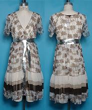 palm print silk dress