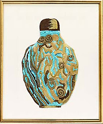 embroidered Oriental bottle