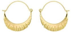 18K Soleil Crescent hoop earrings