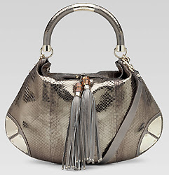 Gucci gumetal python indy bag