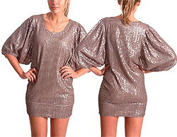 Shakuhachi sequined maxi sleeve dress