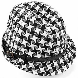 Black and White Star Tweed Trilby