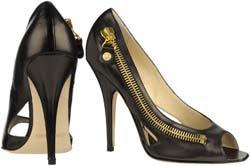 Jimmy Choo open toe shoe with zipper detail