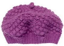 purple knitted cap