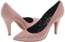 Moschino pink patent leather pointy toe pump