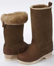 Sven sheepskin clog boots