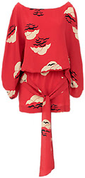 Karen Zambos Vintage Couture Red Cloud Cyia Dress