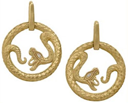 18kt serpent earrings