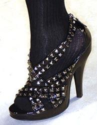 Burberry studded platform sandal